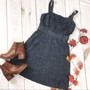 GAP Dark Denim Fit & Flare Jeans Dress - 8